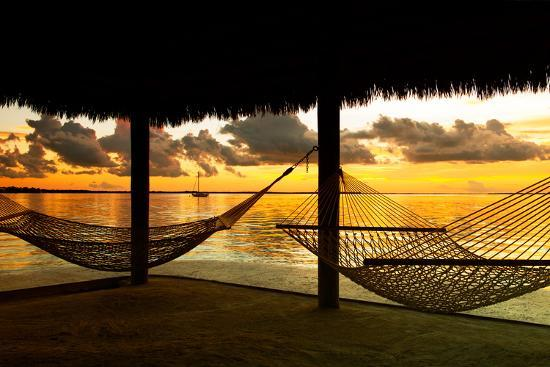 philippe-hugonnard-two-hammocks-at-sunset-view-of-gulf-of-mexico-florida-usa