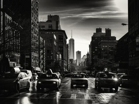 philippe-hugonnard-urban-street-scene-with-nyc-yellow-taxis-and-the-one-world-trade-center-of-manhattan-in-winter