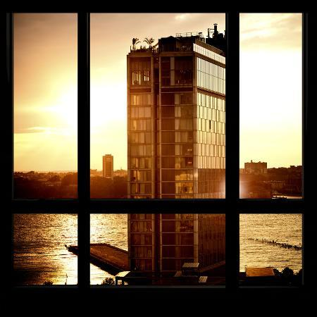 philippe-hugonnard-view-from-the-window-new-york-building-sunset
