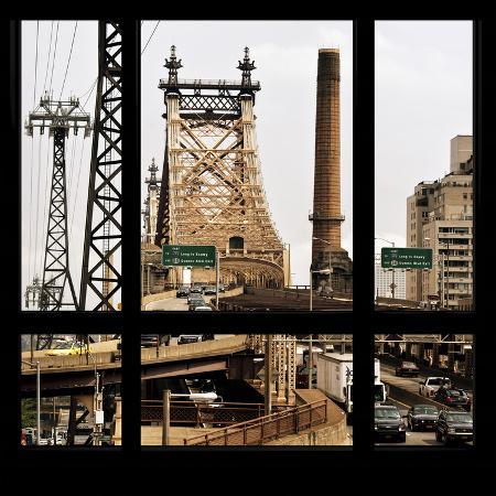 philippe-hugonnard-view-from-the-window-queensboro-bridge-traffic