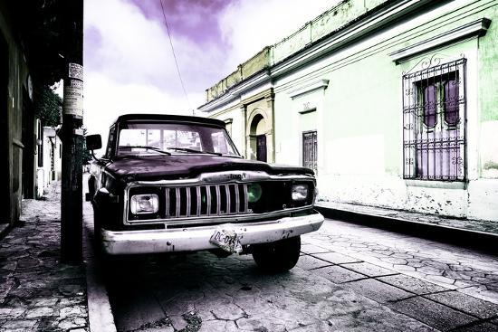 philippe-hugonnard-viva-mexico-collection-black-jeep-and-colorful-street-iv