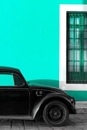 philippe-hugonnard-viva-mexico-collection-black-vw-beetle-with-turquoise-street-wall