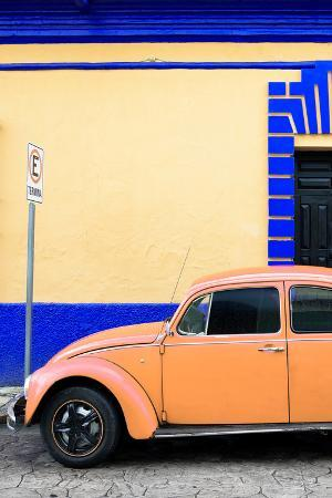 philippe-hugonnard-viva-mexico-collection-orange-vw-beetle-car-and-colorful-wall