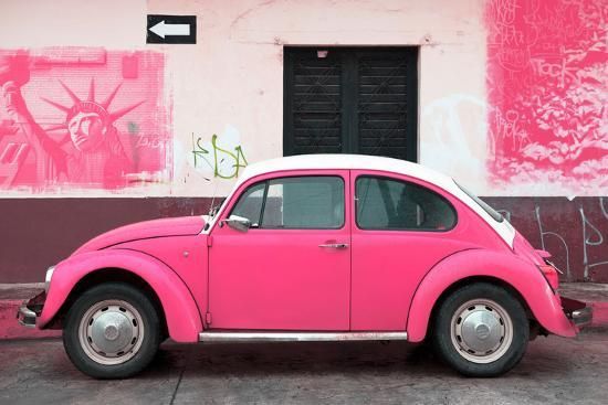philippe-hugonnard-viva-mexico-collection-pink-vw-beetle-car-and-american-graffiti