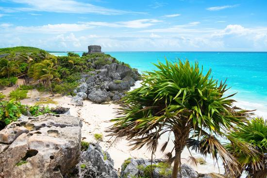 philippe-hugonnard-viva-mexico-collection-tulum-ruins-along-caribbean-coastline