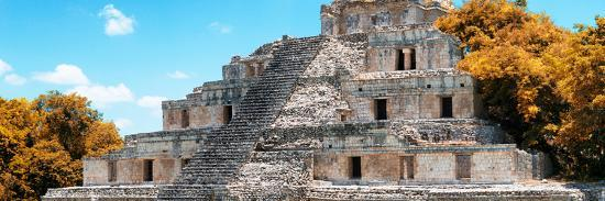philippe-hugonnard-viva-mexico-panoramic-collection-maya-archaeological-site-with-fall-colors-campeche-ii