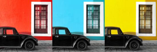 philippe-hugonnard-viva-mexico-panoramic-collection-three-black-vw-beetle-cars-xii