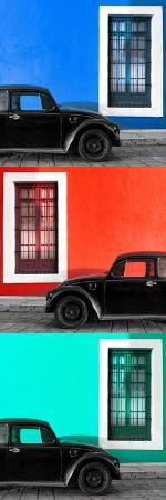 philippe-hugonnard-viva-mexico-panoramic-collection-three-black-vw-beetle-cars-xvii