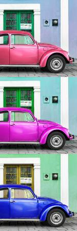 philippe-hugonnard-viva-mexico-panoramic-collection-three-vw-beetle-cars-with-colors-street-wall-xxxi