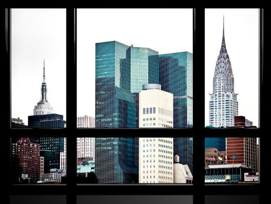 philippe-hugonnard-window-view-special-series-empire-state-building-and-chrysler-building-tops-manhattan-new-york