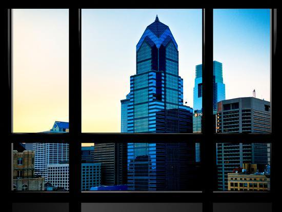 philippe-hugonnard-window-view-special-series-sunset-philly-skyscrapers-view-philadelphia-pennsylvania-us-usa