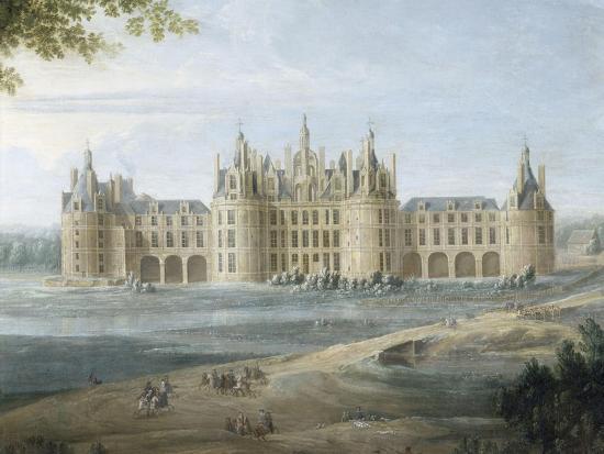 pierre-denis-martin-vue-du-chateau-de-chambord-vers-1722-au-premier-plan-le-duc-d-orleans-regent-donnant-ses