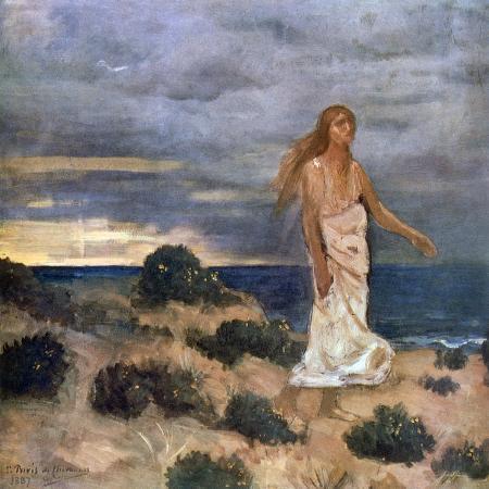 pierre-puvis-de-chavannes-woman-on-the-beach-1887