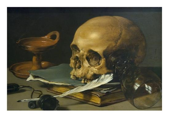 pieter-claesz-still-life-with-a-skull-and-a-writing-quill-1628