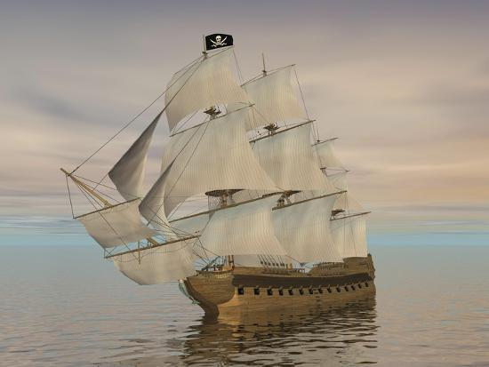 pirate-ship-with-black-jolly-roger-flag-sailing-the-ocean