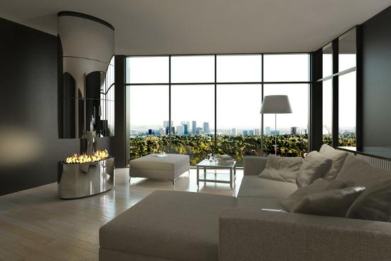 plusone-living-room-interior-with-open-fireplace-and-floor-to-ceiling-windows