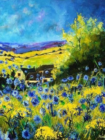 pol-ledent-blue-corn-flowers-in-ver-village-ardennes