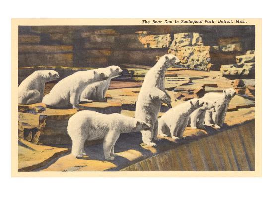 polar-bears-in-zoo-detroit-michigan