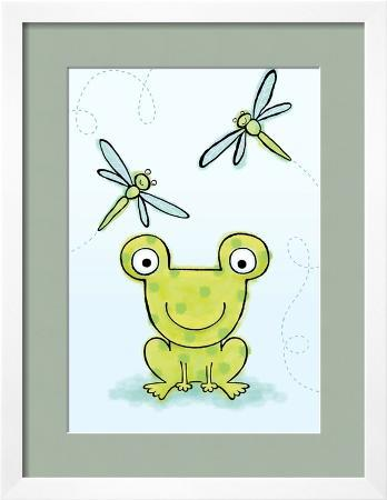 polka-dot-green-frog-with-dragonflies