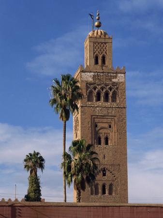 poole-david-koutoubia-minaret-and-mosque-marrakesh-morocco-north-africa-africa