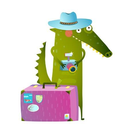 popmarleo-cute-green-crocodile-tourist-with-blue-hat-suitcase-and-camera-funny-wildlife-cartoon-characters
