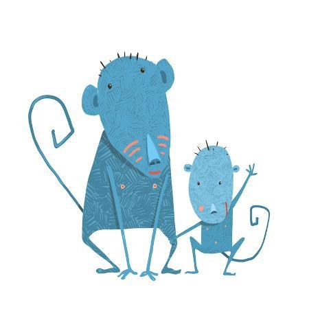 popmarleo-funny-kids-monkey-characters-mother-and-child-monkeys-family-childish-comic-and-cartoon-parent-wi