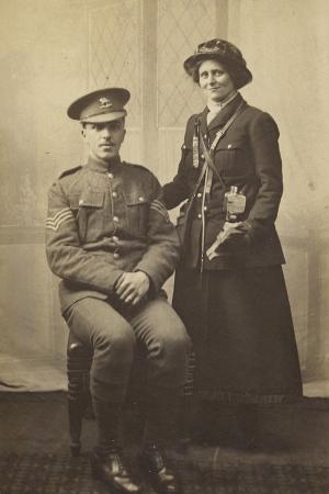 portrait-of-a-couple-in-uniform-world-war-i