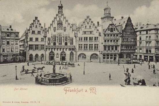 postcard-depicting-a-general-view-of-the-romer-area-of-frankfurt