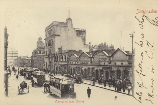 postcard-depicting-commissioner-street-in-johannesburg