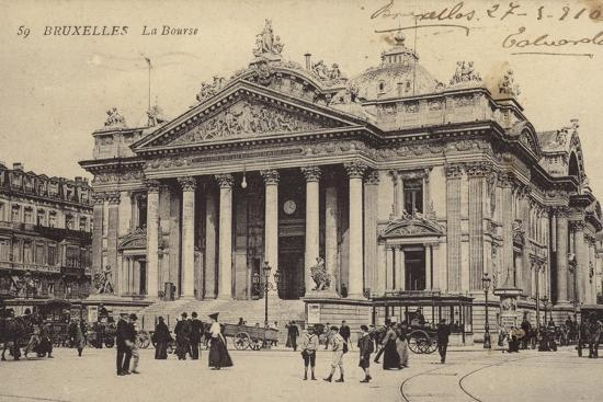 postcard-depicting-the-brussels-stock-exchange