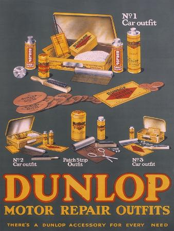 poster-advertising-dunlop-products