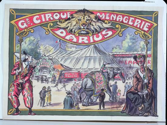 poster-advertising-the-grand-cirque-menagerie-darius-1924