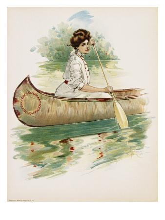 poster-depicting-a-woman-canoeing-by-thomas-mitchell-peirce