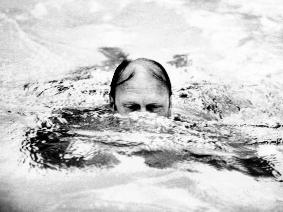 pres-ford-swimming-in-backyard-pool-in-alexandria-virginia-three-days-after-he-assumed-presidency