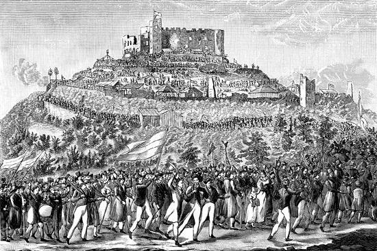 procession-to-hambach-castle-on-27th-may-1832