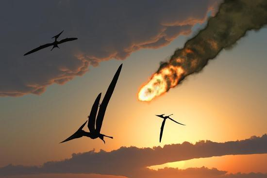 pteranodons-in-flight-unaware-of-the-danger-that-a-crashing-asteroid-is-about-to-bring