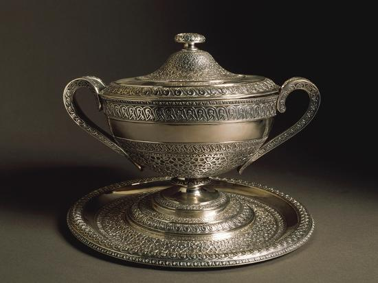 punched-silver-tureen-with-tray-volute-shaped-handles-and-cover-1849