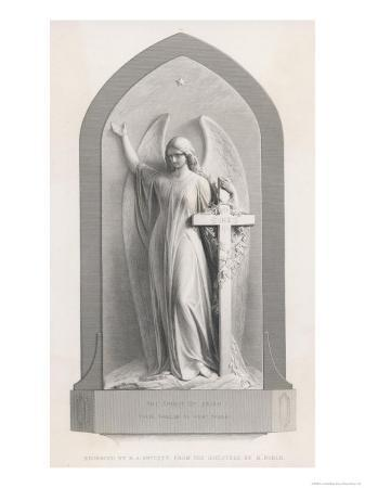 r-a-artlett-the-spirit-of-faith-an-angel-stands-by-a-cross-and-indicates-the-general-direction-of-heaven
