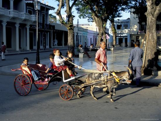 r-h-productions-goat-cart-with-children-on-a-sunday-in-the-plaza-de-la-revolucion-bayamo-cuba-west-indies
