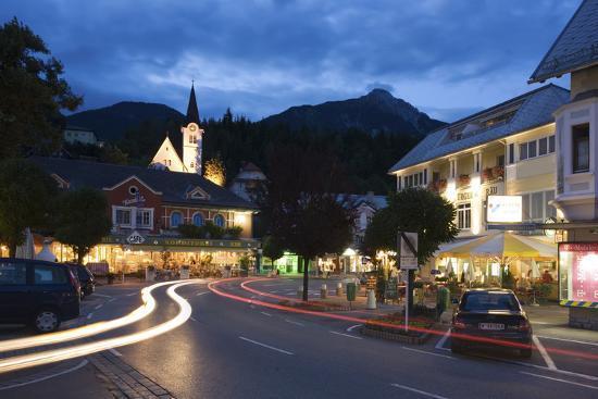 rainer-mirau-austria-carinthia-hermagor-streets-scenery-light-tracks-twilight