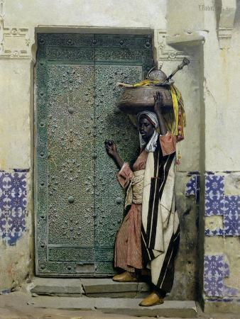 raphael-von-ambros-an-eastern-doorway-at-the-moslem-chief-s-door-1887