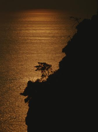 raul-touzon-a-cinque-terre-cliffside-silhouetted-against-the-sun-reflected-sea