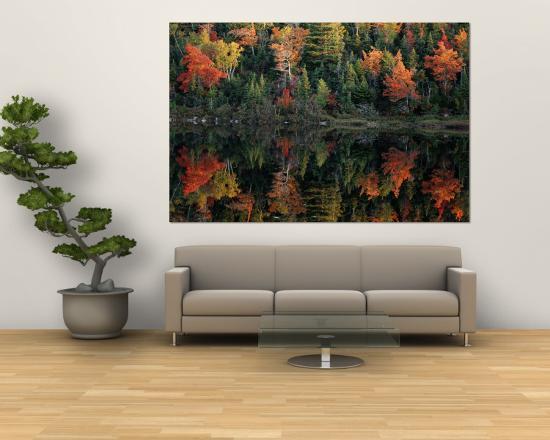 raymond-gehman-autumn-foliage-reflected-in-a-canadian-lake