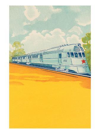 red-star-bullet-train