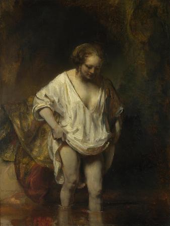 rembrandt-van-rijn-a-woman-bathing-in-a-stream-hendrickje-stoffel-1654