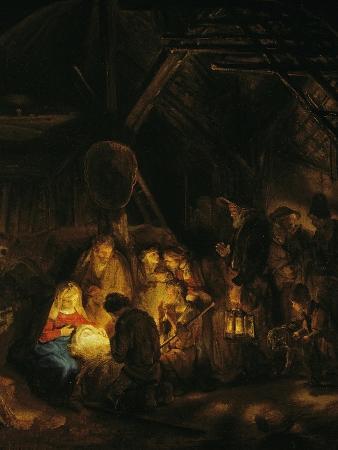 rembrandt-van-rijn-adoration-of-the-shepherds-1646