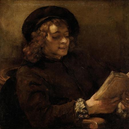 rembrandt-van-rijn-titus-van-rijn-the-artist-s-son-reading