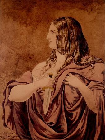 richard-dadd-lucretia-a-sketch-1854