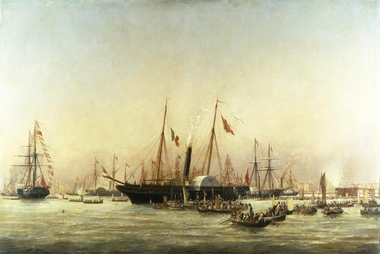 richard-henry-nibbs-queen-victoria-landing-at-brighton-c-1843