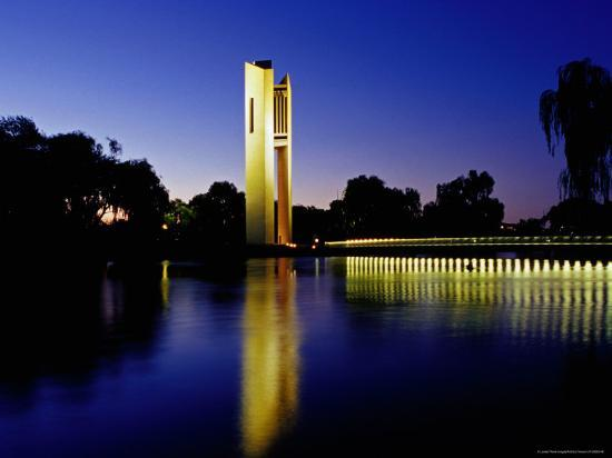 richard-i-anson-national-carillon-reflected-in-lake-burley-griffin-at-dusk